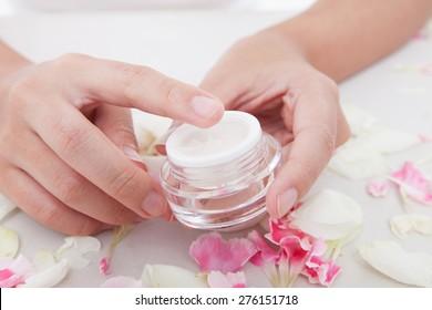 touching the cream