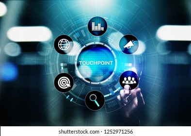 Touchpoint. Business strategy advertising and marketing concept.