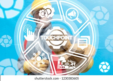 Touchpoint industry concept.