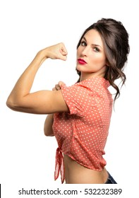 Tough girl power strength confidence motivational quirky woman fit strong and positive
