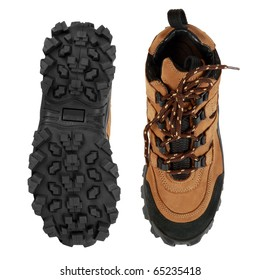 Tough hiking shoes and sole