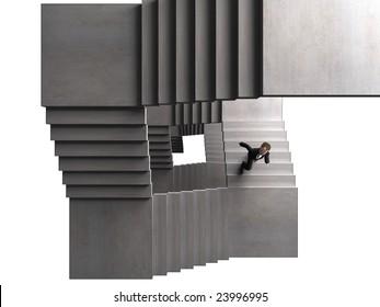 a tough staircase to climb