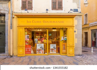 Toulon, France - 29th September 2017: La Cure Gourmande, confectionery and sweet shop. The chain has shops throughout the country.