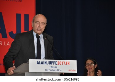 Toulon, France - October 27, 2016 : Former Prime Minister Alain Juppe, presidential election candidate in France
