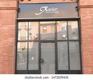 Toulouse, France, 08/06/2019: Storefront of famous cheese shop Xavier in Toulouse