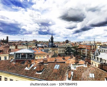 Toulouse, France - April 12th 2018: Cityscape, Rooftops - Toulouse skyline