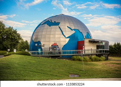 TOULOUSE, FRANCE - July 2018: Space city (Cité de l'espace), theme park focused on space and the conquest of space, Toulouse, France