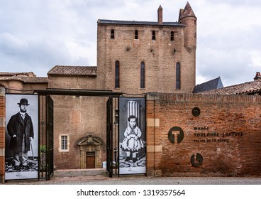 Toulouse Lautrec Museum exterior in Albi, France on 12 June 2015