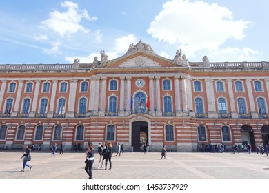 Toulouse/France - 06/06/2019  photo of the architecture of Basilique Saint-Sernin de Toulouse, taken from the outside of structure