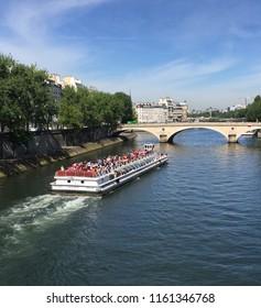 Tour Boat along the Seine Paris Room for Text