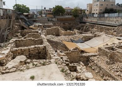 Tour at City of David in Jerusalem, Israel