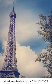 Tour Eiffel, image with instagram effect