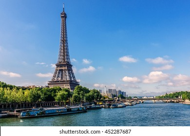 Tour Eiffel (Eiffel Tower) on Sunset. Eiffel Tower, named after engineer Gustave Eiffel is tallest structure in Paris and most visited monument in the world. Paris, France.