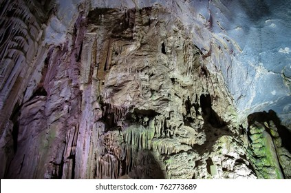 "Tour inside ""Grutas de Garci­a"" cave (Garcia Caves), located in the small town of Garci­a, state of Nuevo Leon in northern Mexico (about 30km from Monterrey). Caves inside El Fraile mountain."