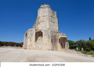 Tour Magne, roman monument in Nimes, Languedoc-Roussillon, France.