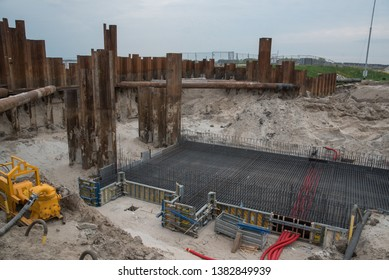 tour of the new sluice construction site. in Zeewolde flevoland the Netherlands April 22, 2019