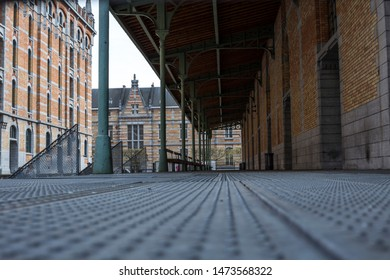 Tour and Taxis, Brussels / Belgium - April 21, 2016: Tour and taxis building in Brussels