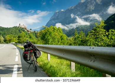 Touring bike near Werfen castle, Austria