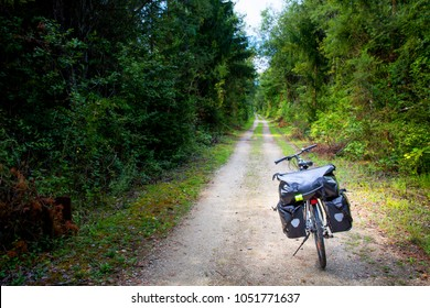 Touring bike on Drau cycle route