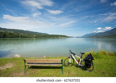 Touring bike on Drau cycle route