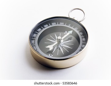 Touring compass on white background