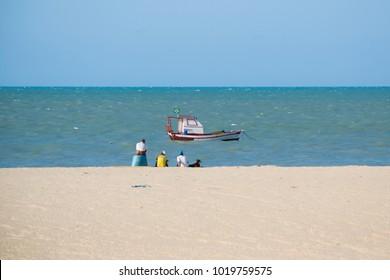 Tourinhos beach, in the city of São Miguel do Gostoso, Rio Grande do Norte, Brazil