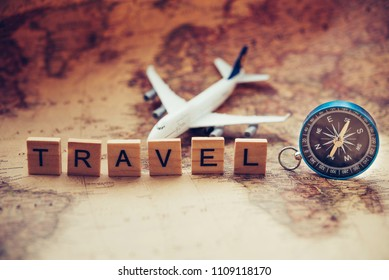"""Tourism planning and equipment  needed for the trip and word """"Travel"""""""