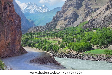 Tourism in Tajikistan, Pamir Highway, Afghanistan on the other side
