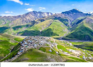 Tourist attraction of Azerbaijan - incredible mountain village in the Caucasus mountain, Xinaliq (Khinalug)