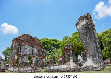 Tourist attractions of ancient Phra Narai Palace, Lopburi Province, Thailand