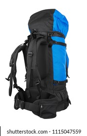 Tourist backpack isolated on white background