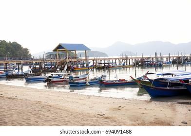 Tourist boat in asia