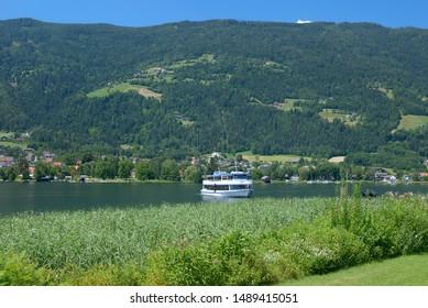 Tourist Boat at Lake Ossiacher See in Carinthia,Austria