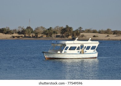 Tourist boat at Sinai coast.