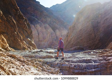 Tourist in canyon