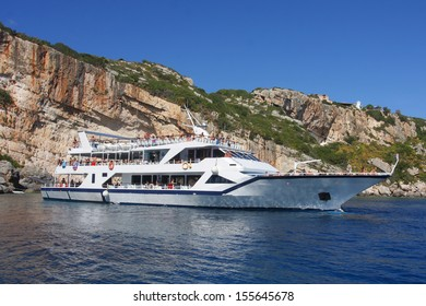 Tourist Cruise Boat on Zakynthos Island Greece