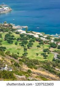 Tourist Elounda on the island of Crete. Greece
