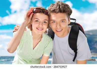 Tourist, Friendship, Travel.