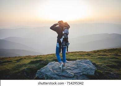 Tourist Girl on High Peak
