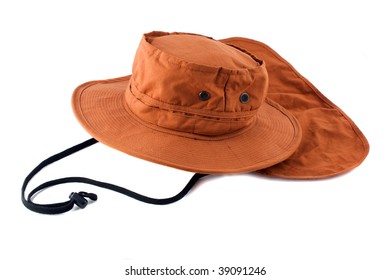 tourist hat on a white background