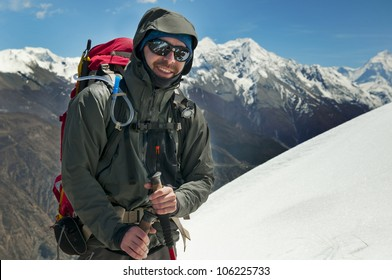 a tourist in Himalayas in Nepal
