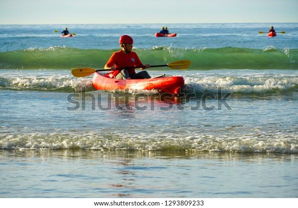 Tourist Kayaking La Jolla Beach San Stock Photo Edit Now