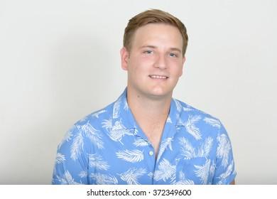 Tourist Man wearing Hawaii shirt