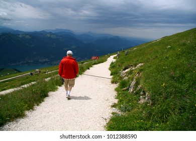 Tourist in the mountain