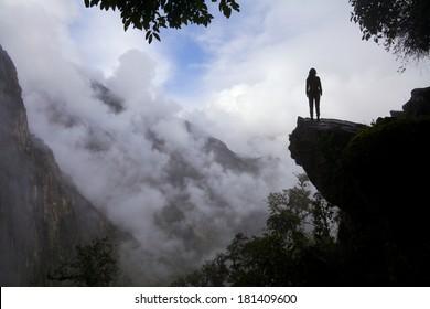 tourist near Machu Picchu - Peru
