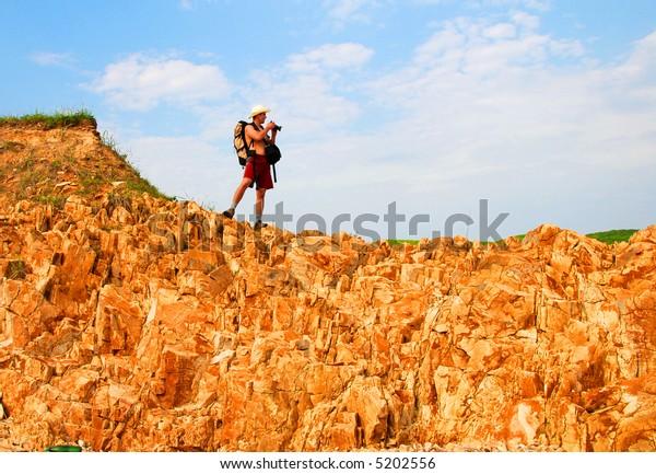 Tourist on the canyon