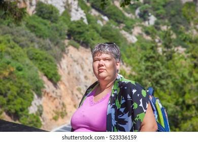 Tourist on Crete, Greece