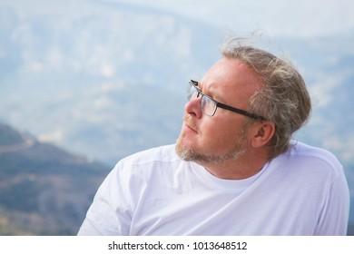 Tourist on Lasithi Plateau on Crete, Greece
