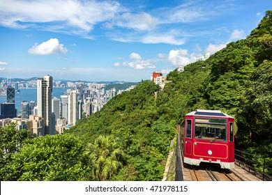 Touristenhochbahn in Hongkong