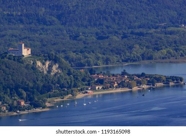 the tourist resort of Angera characterized by the 11th century castle overlooking Lake Maggiore